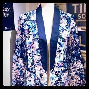 Lauren Conrad Silk Tuxedo Jacket